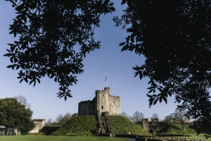 A spring day at Cardiff Castle.