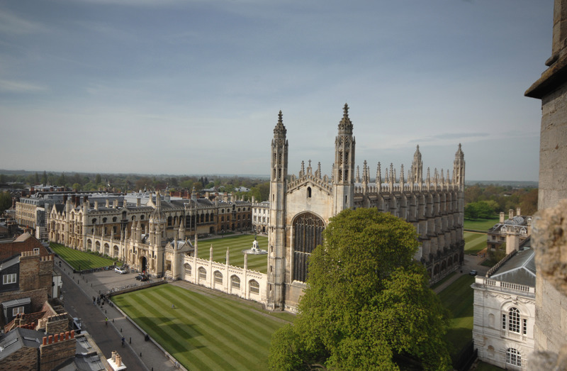 View of King's College from Great St Mary's Church, Cambridge, England